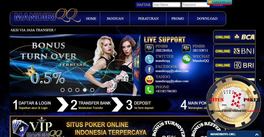 MANDIRIQQ,com | Agen Judi Online|Poker Online & Domino QQ ...